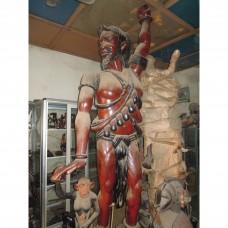 une statuaire d'homme symbole de victoire pour un guerrier