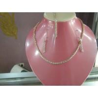Ensemble palmier en argent (collier, boucle, bracelet)