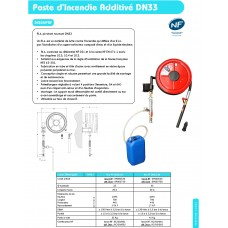 Poste d'Incendie additive DN33